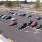 Asphalt parking lot repair