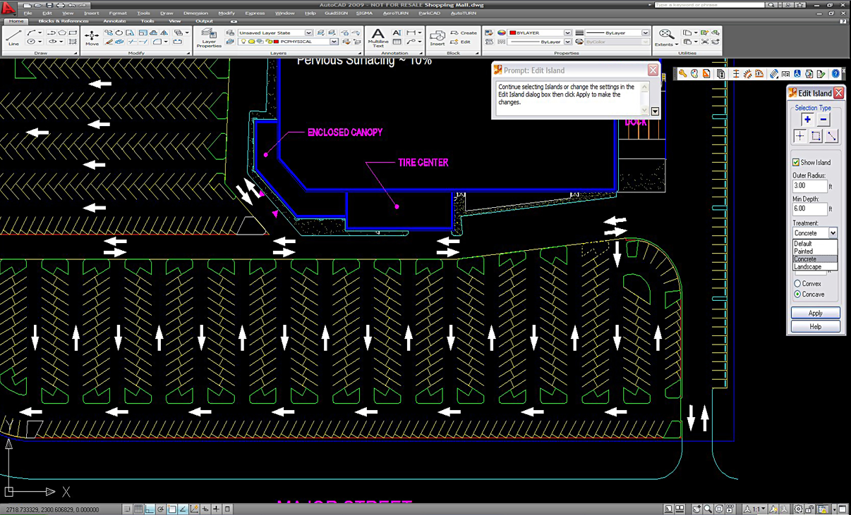 Parking lot design software boca palm beach seal coating for Garage design software free
